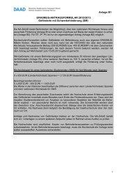 Antrag für ERASMUS-Teilnehmende mit Behinderung - Internationales