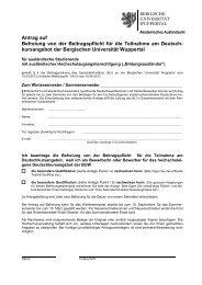 Antrag auf - Internationales - Bergische Universität Wuppertal