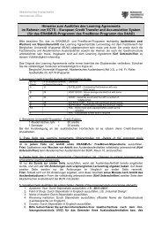 Learning agreement: Hinweise zum Ausfüllen - Internationales ...