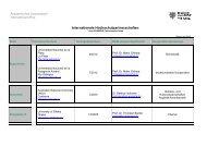 Internationale Partnerhochschulen - Internationales