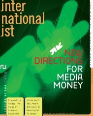 NEW DIRECTIONS FOR MEDIA MONEY - Internationalist