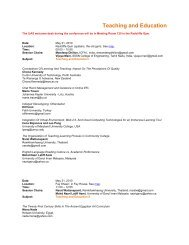 Teaching and Education - International Journal of Arts & Sciences