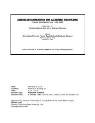 american conference for academic disciplines - International Journal ...