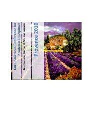 Provence 2010 - International Journal of Arts & Sciences