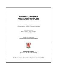european conference for academic disciplines - International ...
