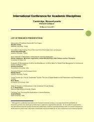 International Conference for Academic Disciplines