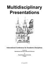 Multidisciplinary Presentations - International Journal of Arts ...