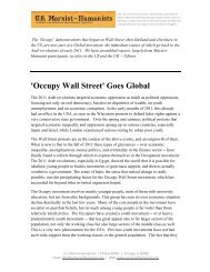 'Occupy Wall Street' Goes Global - The International Marxist-Humanist