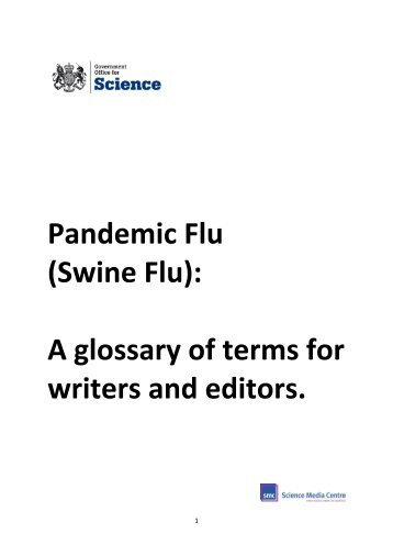 Pandemic Flu (Swine Flu): A glossary of terms for writers and ... - BIS
