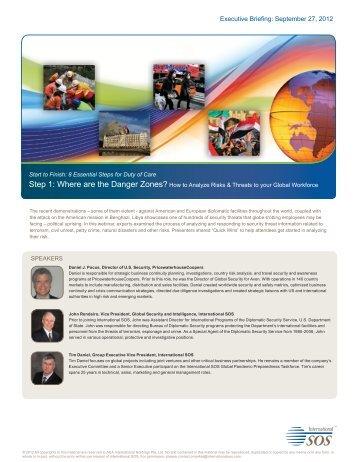 Executive Briefing: September 27, 2012 - International SOS