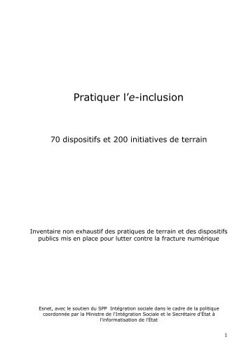 Pratiquer l'e-inclusion - Observatorium van de Rechten op het Internet