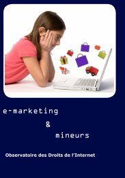 e-marketing mineurs