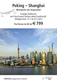Peking – Shanghai - Internet-reiseparadiese.de