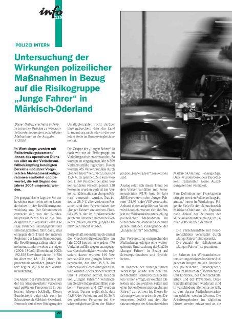 immer präsent - Polizei Brandenburg - Brandenburg.de