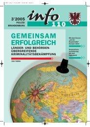 info 110 Ausgabe 03/2005 - Polizei Brandenburg - Brandenburg.de