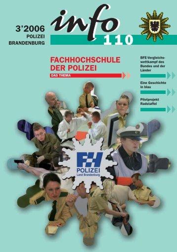 3'2006 - Polizei Brandenburg - Brandenburg.de