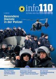info 110 Ausgabe 01/2013 - Polizei Brandenburg - Brandenburg.de