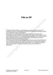 Fälle und Lösungen zur IDF - Polizei Brandenburg