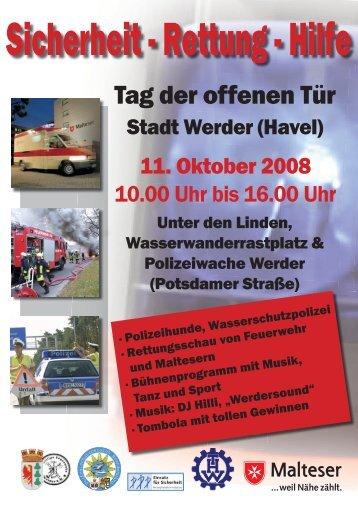 """Programm und Flyer zum """"Tag der offenen Tür"""" - Polizei Brandenburg"""