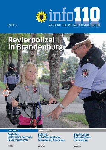 """""""info110"""": Ausgabe 1/2011 - Polizei Brandenburg - Brandenburg.de"""