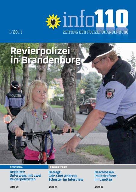 Info110 Ausgabe 1 2011 Polizei Brandenburg Brandenburg De