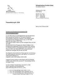 Polizeipräsidium Frankfurt (Oder) Pressemitteilung Nr. 52/06