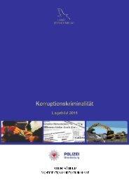 Lagebild Korruptionskriminalität 2011 - Polizei Brandenburg