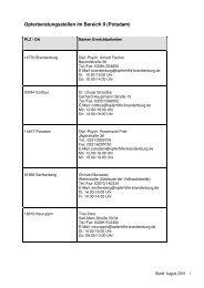 Opferberatungsstellen im Bereich II - Polizei Brandenburg ...