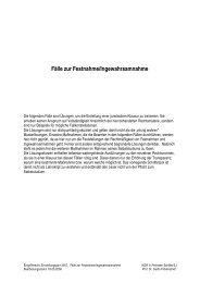 Fälle zur Festnahme/Ingewahrsamnahme - Polizei Brandenburg