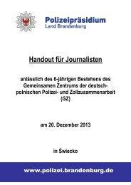 Handout 6 Jahre GZ für Journalisten - Polizei Brandenburg - Land ...