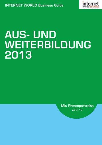 AUS- UND WEITERBILDUNG - Internet World Business