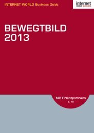 BEWEGTBILD - Internet World Business