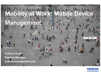 Mobility at Work: Mobile Device Management - Interop
