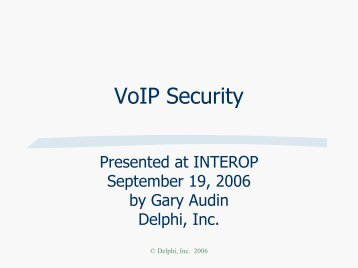 Protection: Securing Your Converged Network - Interop