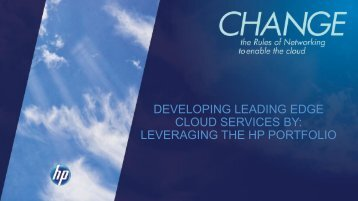 DEVELOPING LEADING EDGE CLOUD SERVICES BY ... - Interop