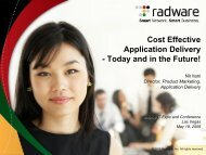 Cost Effective Application Delivery - Interop