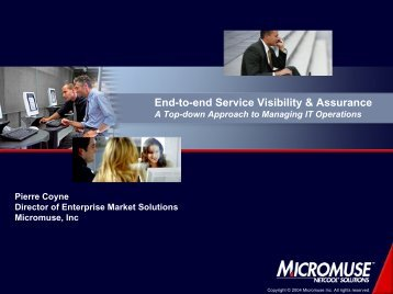 Service-Centric Management A Top-down Approach to ... - Interop