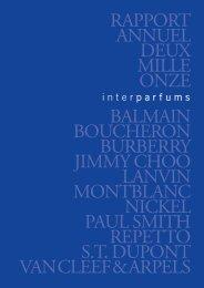 Rapport annuel - Interparfums