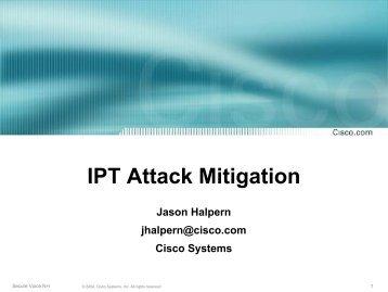 IPT Attack Mitigation - Interop