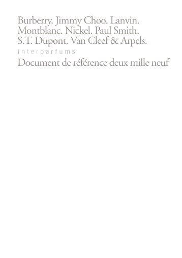 Document de référence - Inter Parfums