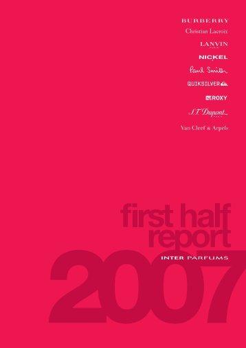 2007 first half report - Interparfums