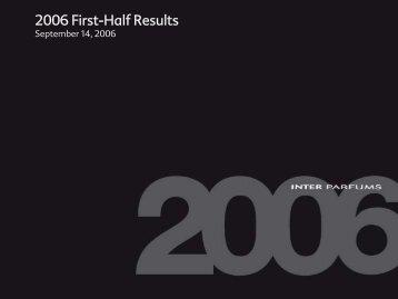2006 First-Half Results - Interparfums