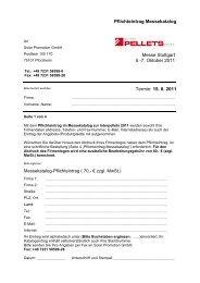 Pflichteintrag im Katalog - Interpellets