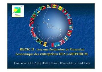 Intervention de M. Jean-Louis BOUCARD - Interreg-caraibes.org
