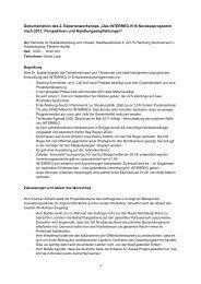 "1 Dokumentation des 2. Expertenworkshops ""Das INTERREG IV B ..."