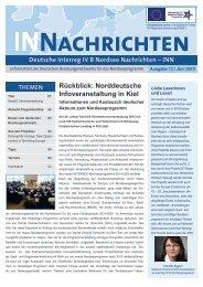 Rückblick: Norddeutsche Infoveranstaltung in Kiel - Interreg-Nordsee