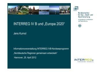 Europa 2020 - Interreg IV B