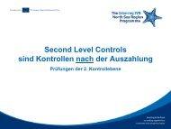 Second Level Control - Interreg IV B