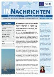 INN Ausgabe 2: September 2008 - Interreg IV B
