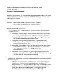 Doku Workshop 1 - Interreg IV B